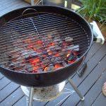 گریل تخت و زغالی به همراه پایه (میز استیل زیرش)
